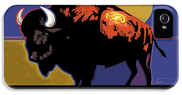 Buffalo Moon IPhone 5 Case by R Mark Heath