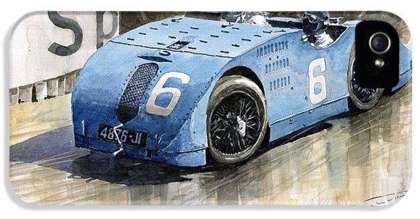 Bugatti Type 32 Tank 1923 French Gp  IPhone 5 Case by Yuriy  Shevchuk