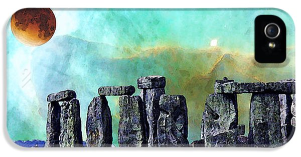 Building A Mystery 2 - Stonehenge Art By Sharon Cummings IPhone 5 Case by Sharon Cummings