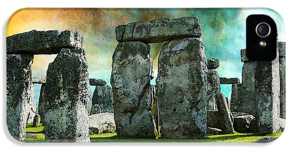 Building A Mystery - Stonehenge Art By Sharon Cummings IPhone 5 Case by Sharon Cummings