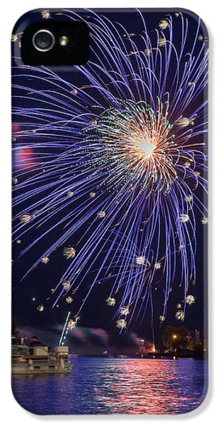 Burst Of Blue IPhone 5 Case by Bill Pevlor