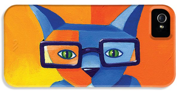Business Cat IPhone 5 Case by Mike Lawrence