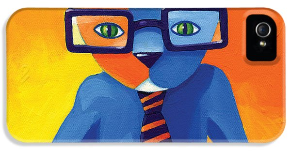 Day iPhone 5 Case - Business Cat by Mike Lawrence