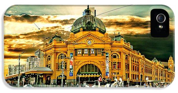 Busy Flinders St Station IPhone 5 Case by Az Jackson