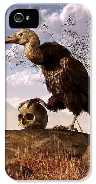 Buzzard With A Skull IPhone 5 Case