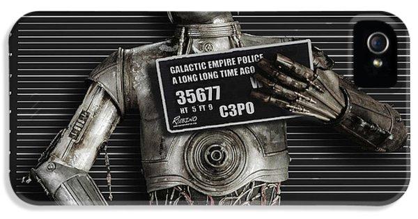 C-3po Mug Shot IPhone 5 Case by Tony Rubino
