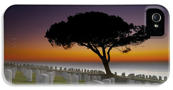 Cabrillo National Monument Cemetery IPhone 5 Case by Larry Marshall