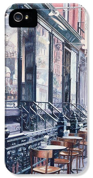 Cafe Della Pace East 7th Street New York City IPhone 5 Case by Anthony Butera