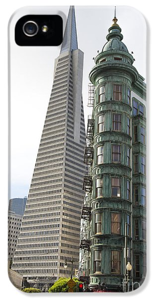 Cafe Zoetrope And Transamerica Bldg IPhone 5 / 5s Case by David Bearden