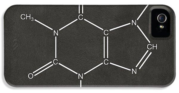 Caffeine Molecular Structure Gray IPhone 5 Case by Nikki Marie Smith