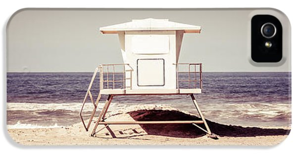 California Lifeguard Tower Retro Panoramic Picture IPhone 5 Case