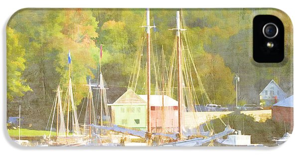 Camden Harbor Maine IPhone 5 Case by Carol Leigh