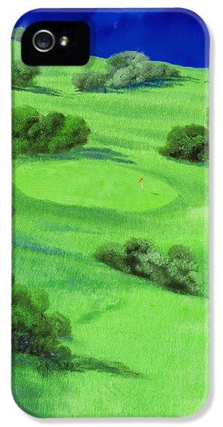 Campo Da Golf Di Notte IPhone 5 Case by Guido Borelli