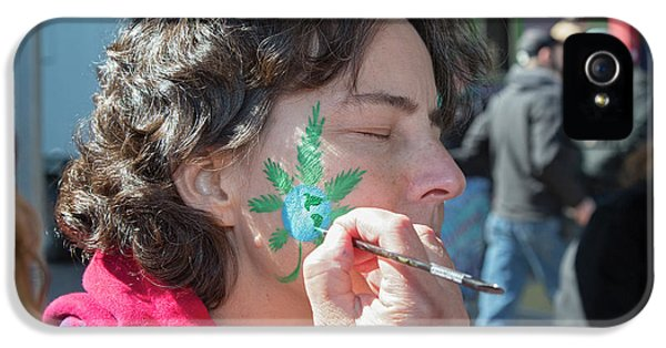 Cannabis Face Painting IPhone 5 Case by Jim West