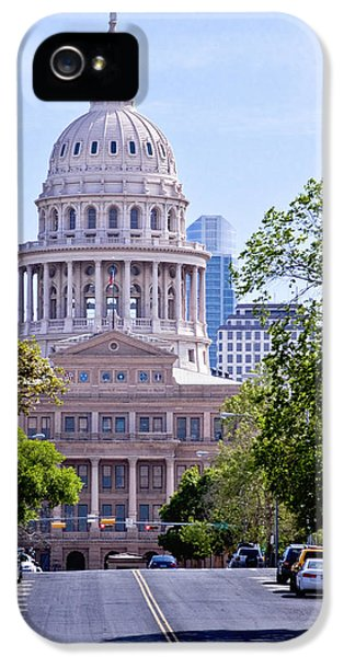 Capitol Building Of Texas IPhone 5 Case by David and Carol Kelly