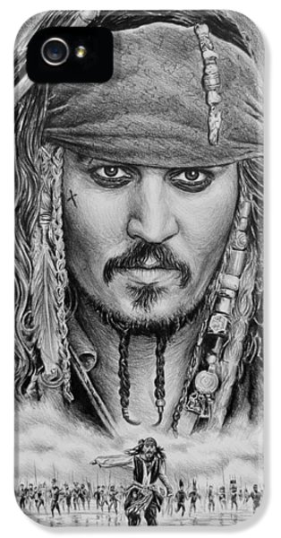 Johnny Depp iPhone 5 Case - Captain Jack Sparrow by Andrew Read