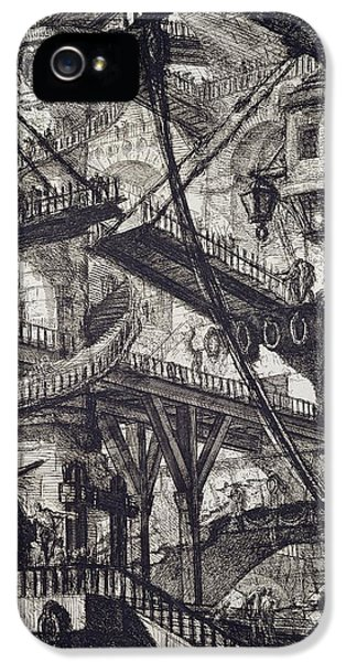 Dungeon iPhone 5 Case - Carceri Vii by Giovanni Battista Piranesi