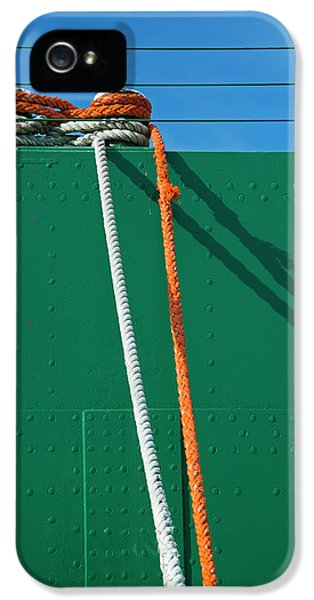 Cargo Ship Mooring Line IPhone 5 Case by Jim West