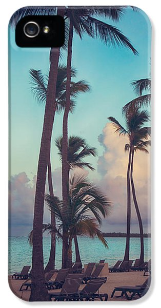 Palm Tree iPhone 5 Case - Caribbean Dreams by Laurie Search