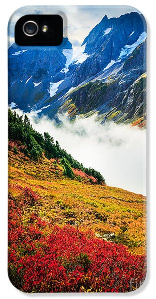 Cascade Pass Peaks IPhone 5 Case by Inge Johnsson