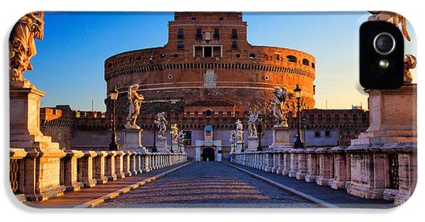 Castel Sant'angelo IPhone 5 Case by Inge Johnsson