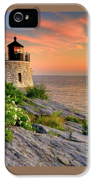Castle Hill Lighthouse-rhode Island IPhone 5 Case by Thomas Schoeller
