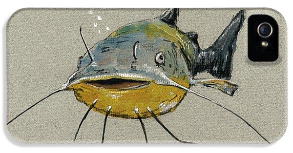 Catfish iPhone 5 Case - Catfish by Juan  Bosco