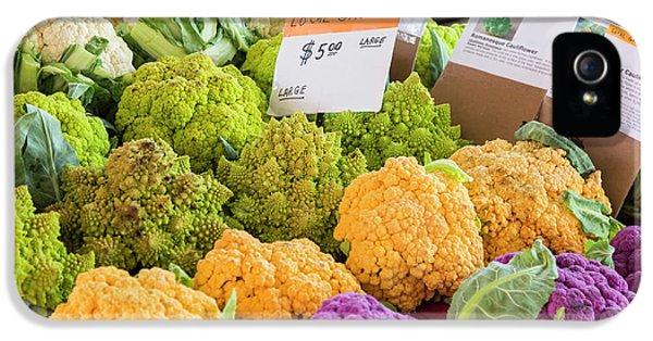 Cauliflower Market Stall IPhone 5 / 5s Case by Jim West