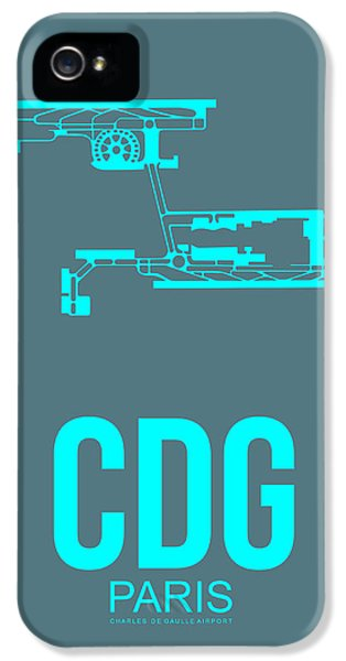 Cdg Paris Airport Poster 1 IPhone 5 Case by Naxart Studio