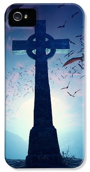 Celtic Cross With Swarm Of Bats IPhone 5 Case