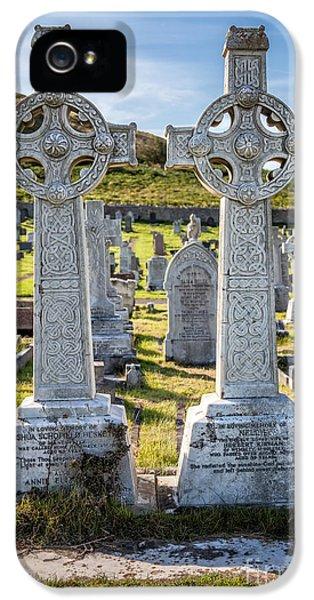 Celtic Crosses IPhone 5 Case by Adrian Evans