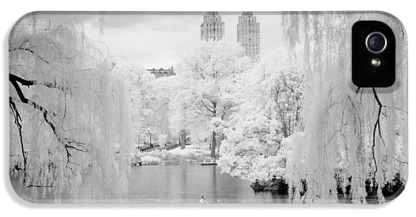 Central Park Lake-infrared Willows IPhone 5 Case by Dave Beckerman
