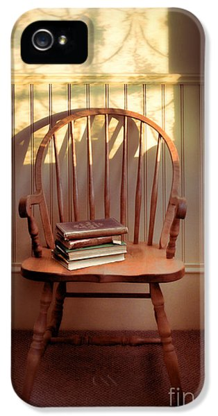 Chair And Lace Shadows IPhone 5 Case by Jill Battaglia