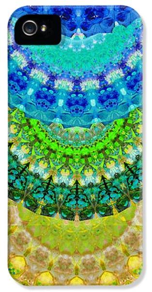 Chakra Mandala Healing Art By Sharon Cummings IPhone 5 / 5s Case by Sharon Cummings