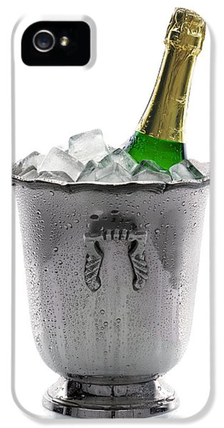 Champagne Bottle On Ice IPhone 5 Case