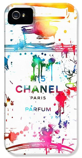 Chanel Number Five Paint Splatter IPhone 5 Case