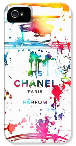 Chanel Number Five Paint Splatter IPhone 5 / 5s Case by Dan Sproul