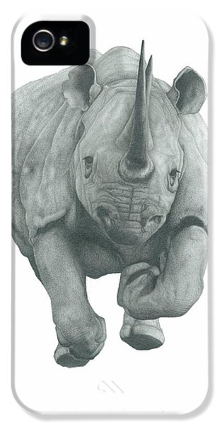 Charging Rhino IPhone 5 Case by Rich Colvin