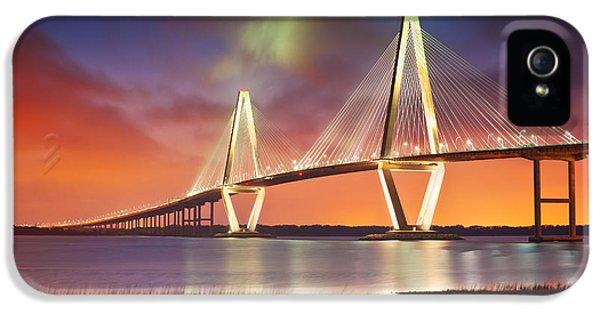 Charleston Sc - Arthur Ravenel Jr. Bridge Cooper River IPhone 5 Case by Dave Allen