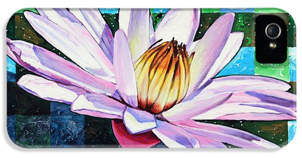 Checker Board And Soft Petals IPhone 5 Case by John Lautermilch