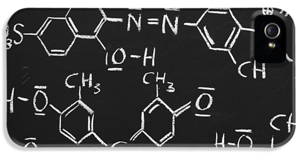 White iPhone 5 Case - Chemical Formulas by Chevy Fleet