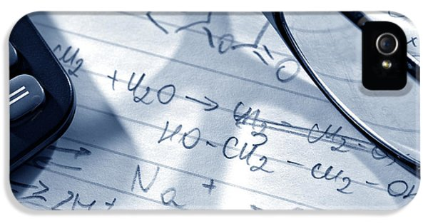 Chemistry Formulas IPhone 5 Case by Olivier Le Queinec