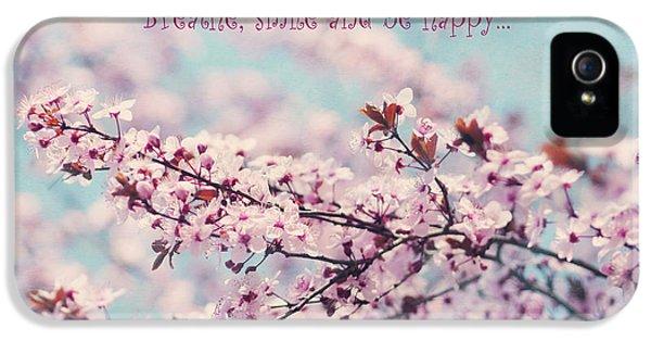 Breathe iPhone 5 Case - Cherry Blossom In Pastel by Irina Wardas