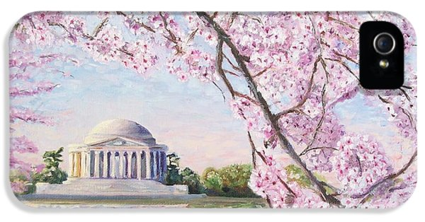 Washington D.c iPhone 5 Case - Jefferson Memorial Cherry Blossoms by Patty Kay Hall