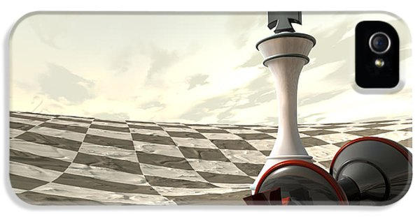 Chess Desert Game Over IPhone 5 Case by Allan Swart