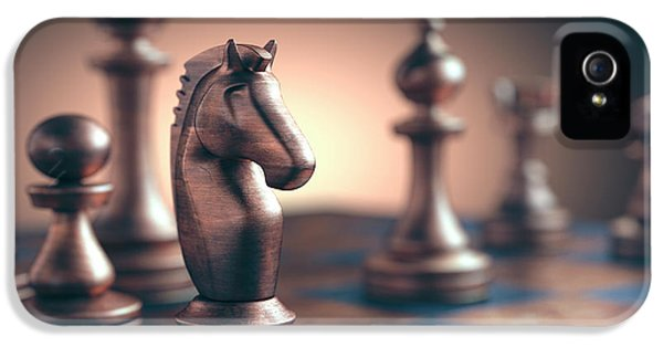 Chess Piece On Chess Board IPhone 5 Case