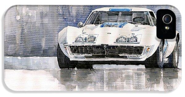 Car iPhone 5 Case - Chevrolet Corvette C3 by Yuriy Shevchuk