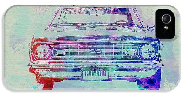 Chevy Camaro Watercolor 2 IPhone 5 Case by Naxart Studio