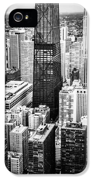 Hancock Building iPhone 5 Case - Chicago Aerial Vertical Panoramic Picture by Paul Velgos