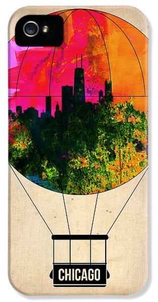 University Of Illinois iPhone 5 Case - Chicago Air Balloon by Naxart Studio